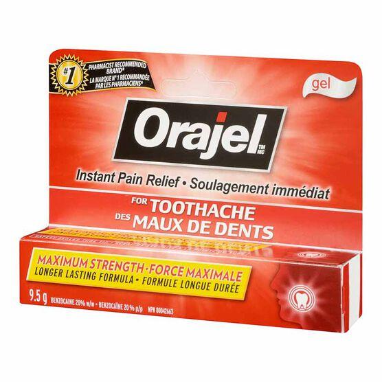 Orajel Maximum Strength Toothache Pain Relief Gel - 9.5g