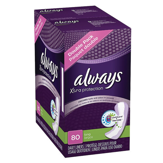 Always Pantiliners - Long - Unscented - 80's