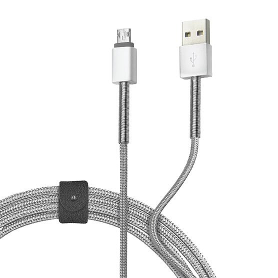 Logiix Piston Connect Steel Micro USB Cable - LGX12083