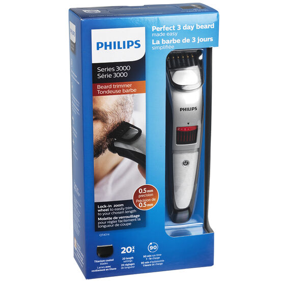 Philips Beard and Stubble Trimmer - Black - QT4014/16