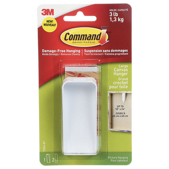 Command™ Large Canvas Hanger - Single