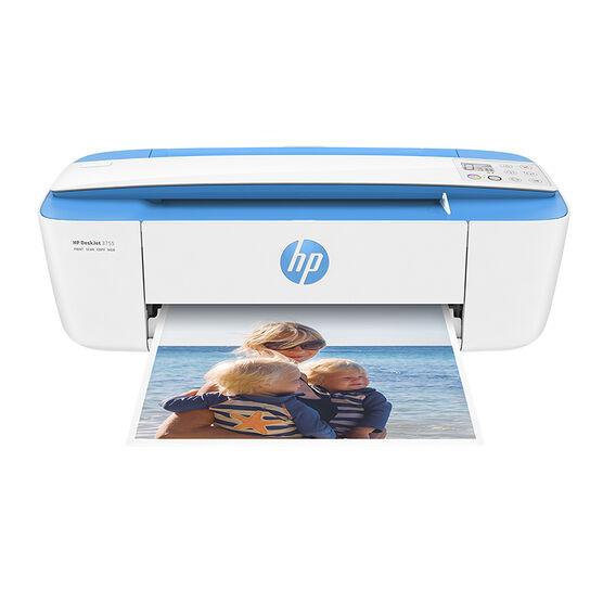HP DeskJet 3755 Wireless All-in-One Printer - White/Blue - J9V90A#B1H