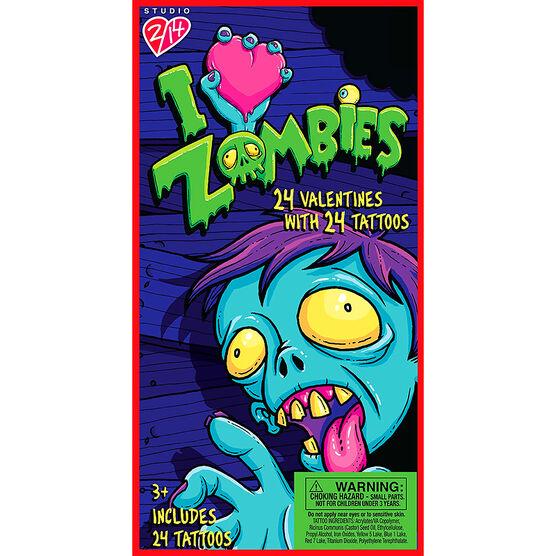 I Love Zombies Tattoo Valentines - 24s - 4161710