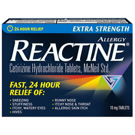 Reactine Allergy - Extra Strength/Non Drowsy - 24 hour - 48's