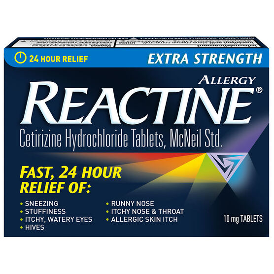 Reactine Allergy - Extra Strength/Non Drowsy - 24 hour - 48's