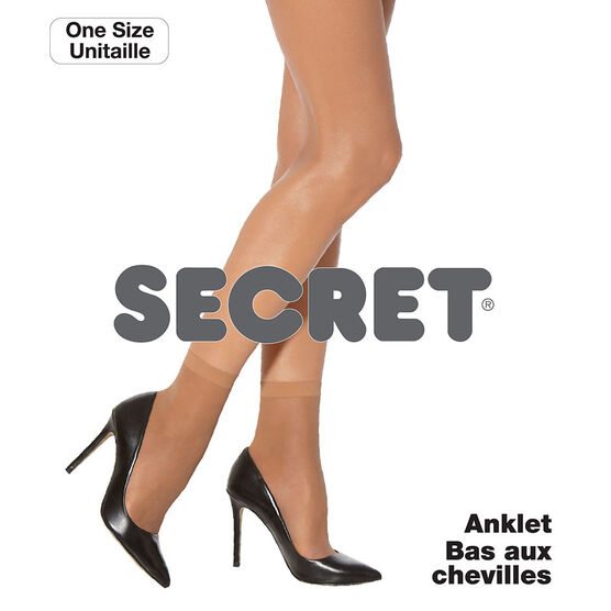 Secret Sheer Anklet - Black - One Size