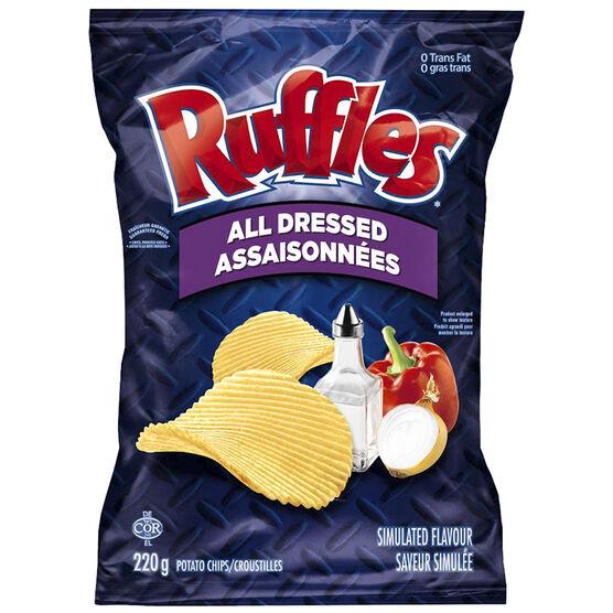 Ruffles Potato Chips - All Dressed - 220g