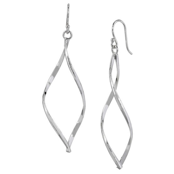 Haskell Silver Twist Drop Earrings