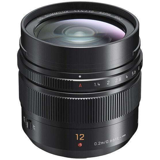 Panasonic LUMIX G Leica DG 12mm F1.4 Lens - Black - HX012
