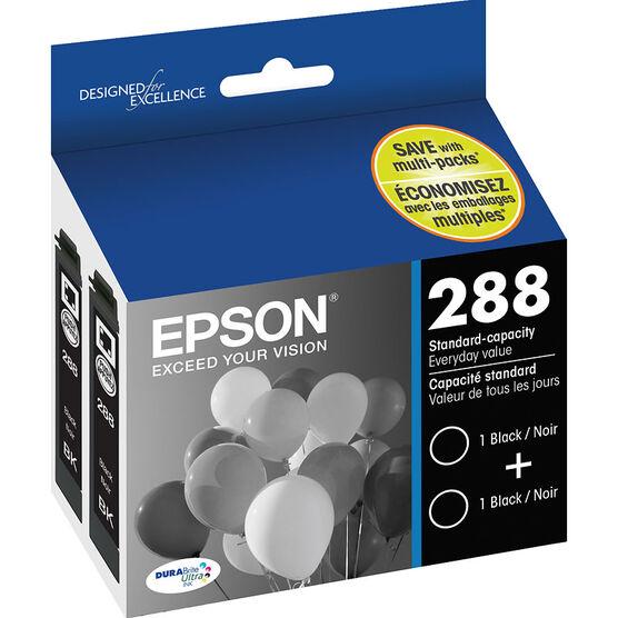 Epson 288 DuraBrite Ultra Ink - Black - 2 pack - T288120-D2