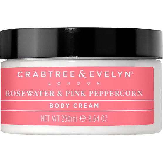 Crabtree & Evelyn Rosewater & Pink Peppercorn Hydrating Body Cream - 250g