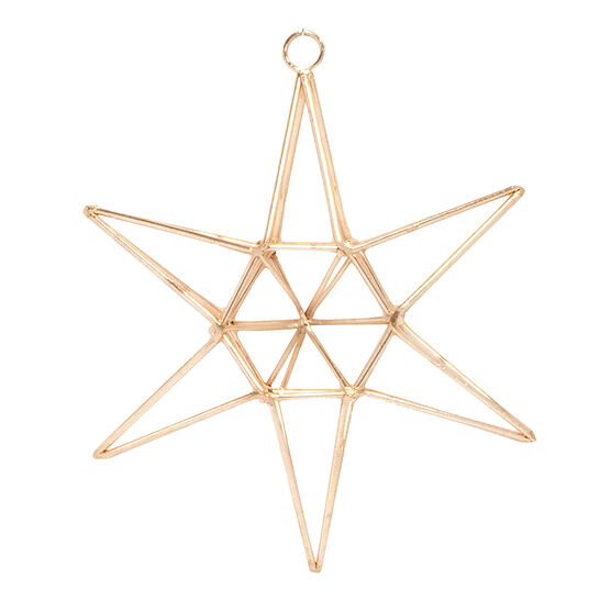 Modern Twist Geo Star Ornament - Rose Gold - 4 x 3.25in