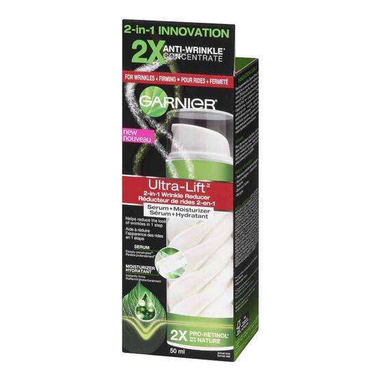 Garnier Ultra-Lift 2-in-1 Wrinkle Reducer Serum+Moisturizer - 50ml