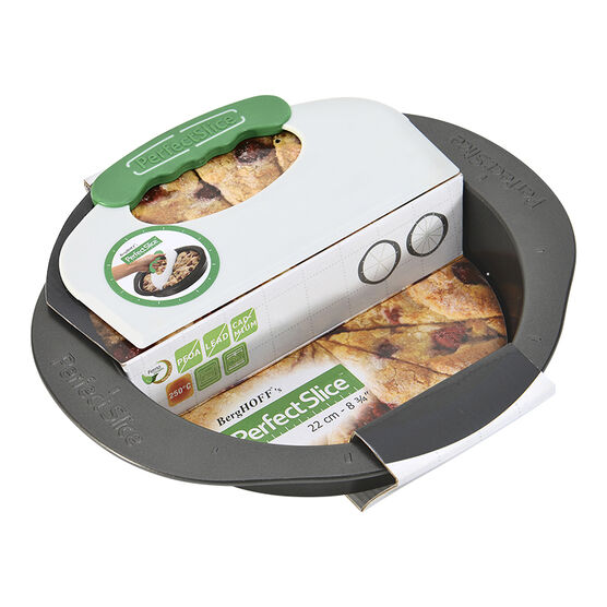 """Perfect Slice Round Pan with Slicing Tool - Grey - 9"""""""