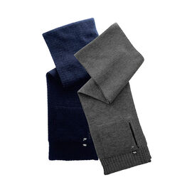 Point Zero Men's Scarf with Pocket - Charcoal
