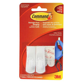 Command™ Small Utility Hooks - 2's