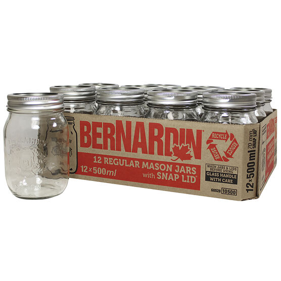 Bernardin Regular Mason Jar - 500ml - 12 pack