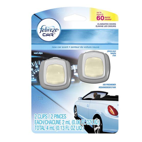 Febreze Auto Vent Clips - New Car - 4ml