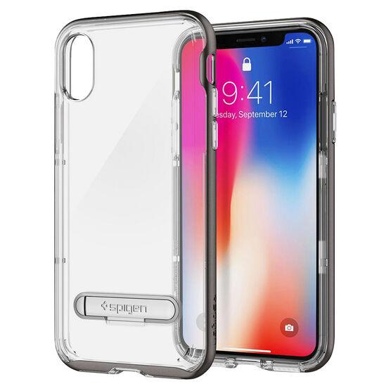 Spigen Crystal Hybrid Case for iPhone X - Gunmetal - SGP057CS22144