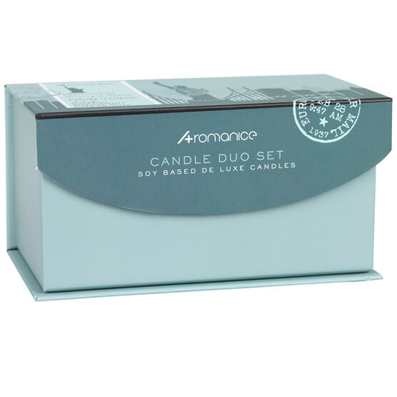 Aromanice Candle Set New York - Rosemary Patchouli - 2 piece