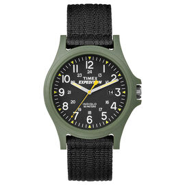 Timex Expedition Watch- Black/Green - TW4999800GP