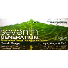 Seventh Generation Recycled Trash Bags - 20's / 30 gallon