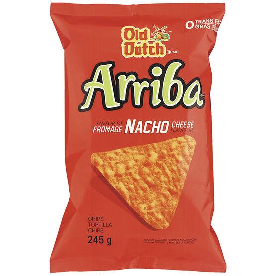 Old Dutch Arriba Tortilla Chips - Nacho Cheese - 245g