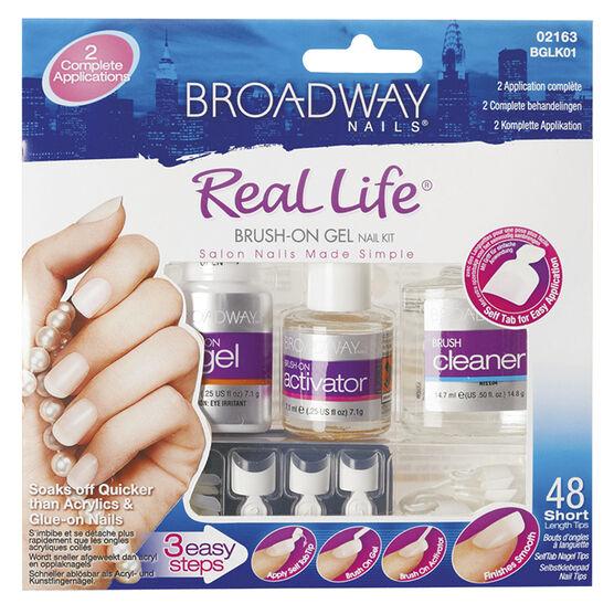 Broadway Nails Real Life Brush on Gel Nails Kit - BGLK01