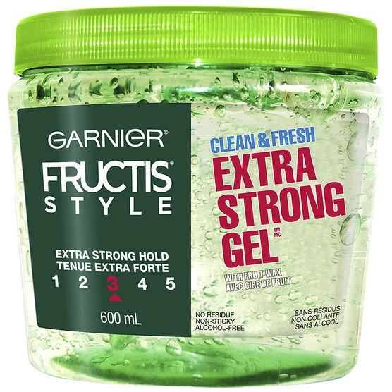 Garnier Fructis Style Clean & Fresh Gel - Extra Strong - 600ml