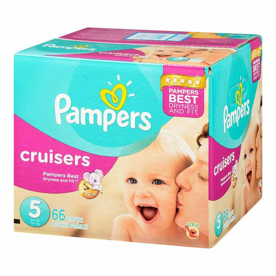 Pampers Cruisers Diapers - Size 5 - 66's