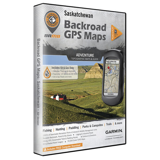 Backroad GPS Maps - Saskatchewan - 02331