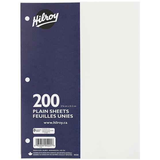 Hilroy Refill Paper - Plain - 200 sheet