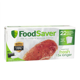 FoodSaver Quart Freezer Heat-Seal Bags - 22's