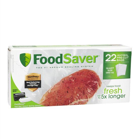 FoodSaver Quart Freezer Heat-Seal Bags - 22's