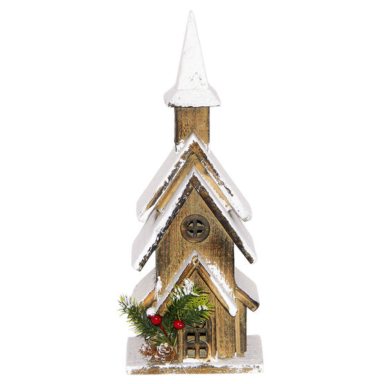 Christmas Wooden House with Multi Roof - 15in