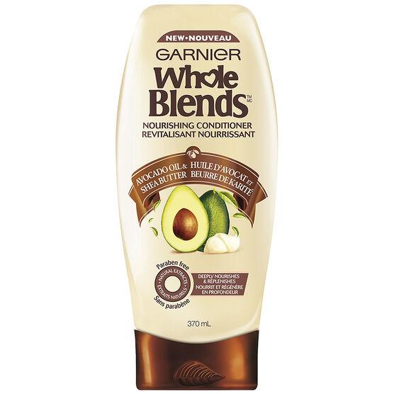 Garnier Whole Blends Nourishing Conditioner - Avocado Oil & Shea Butter - 370ml