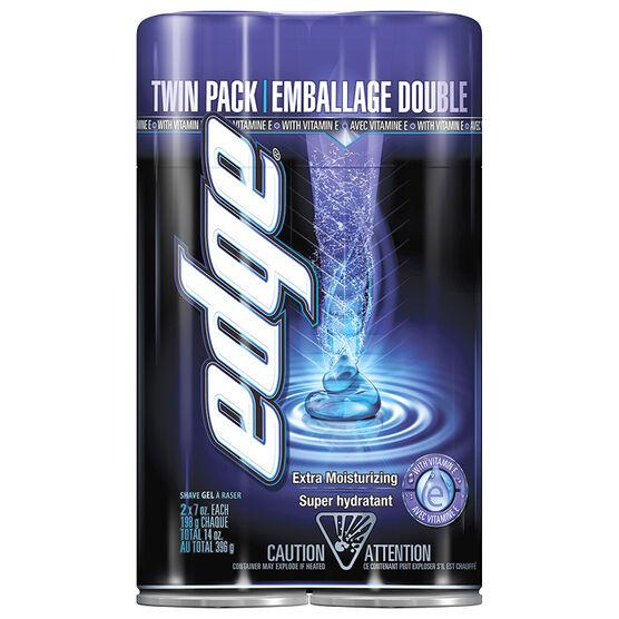 Edge Shave Gel - Extra Moisturizing - 2 x 198g