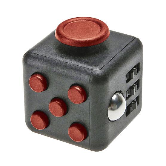 IQ Fidget Friend Cube - Black/Red - IQFIDBKRED