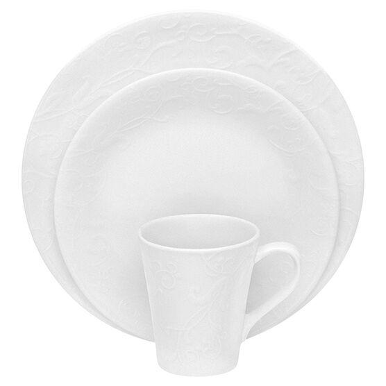 Corelle Bella Faenza Embossed Dinnerware Set - White - 16 piece