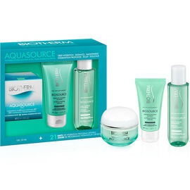 Biotherm Aquasource Gel Set - Normal to Combination Skin - 3 piece