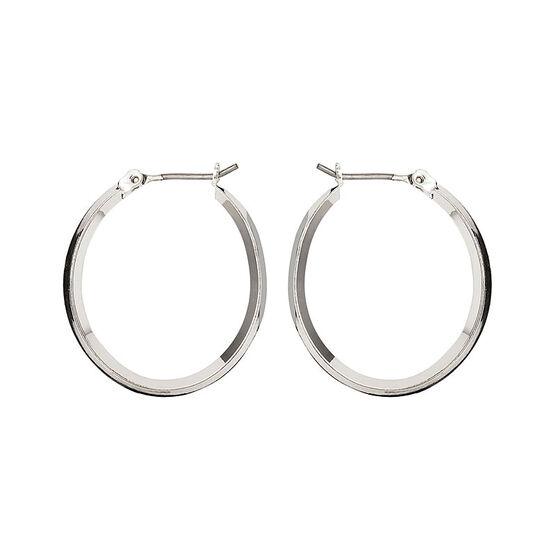 Nine West Silver Click It Hoop Earrings