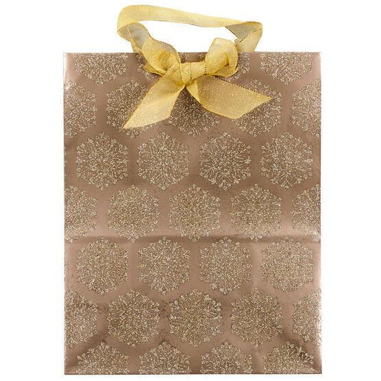 Hallmark Bag with Gold Glitter - Large