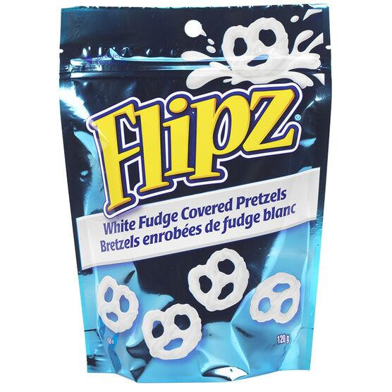 Flipz White Fudge Pretzels - 120g