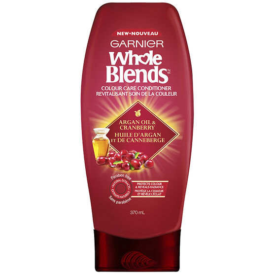 Garnier Whole Blends Colour Care Conditioner - Argan Oil & Cranberry - 370ml