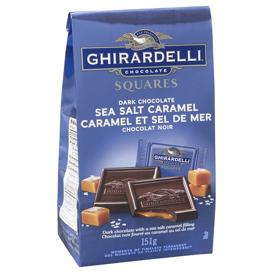 Ghirardelli Chocolate Squares - Dark & Sea Salt Caramel - 151g