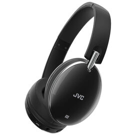 JVC Bluetooth Noise-Cancelling Headphones - Black - HAS90BN