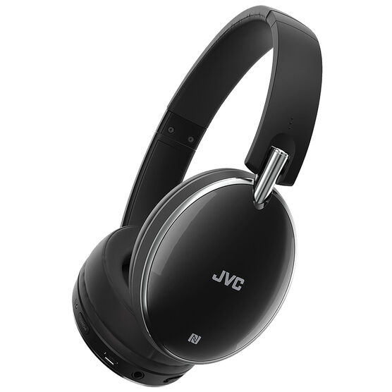 JVC Bluetooth Noise-Cancelling Headphones - Black - HAS90BN