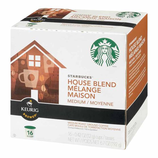 K-Cup Starbucks Coffee Pods - House Blend - 16's
