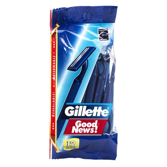 Gillette Good News Razors - 12's