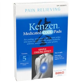 Kenzen Medicated Cool Pads - 5's